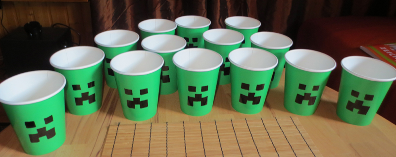 Minecraft Party Selbstgemacht